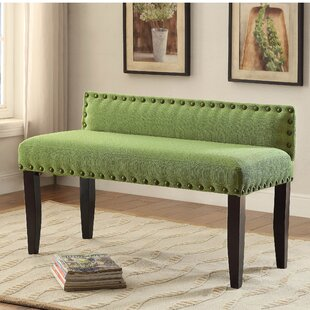 Compare prices Faiths Upholstered Bench By Alcott Hill