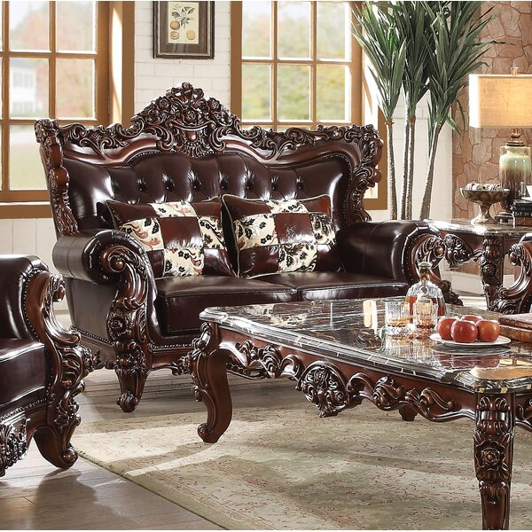 Amazing Shopping Keagan Leather Loveseat by Astoria Grand by Astoria Grand