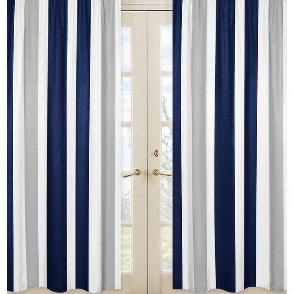 Stripe Striped Semi-Sheer Rod pocket Curtain Panels (Set of 2) by Sweet Jojo Designs
