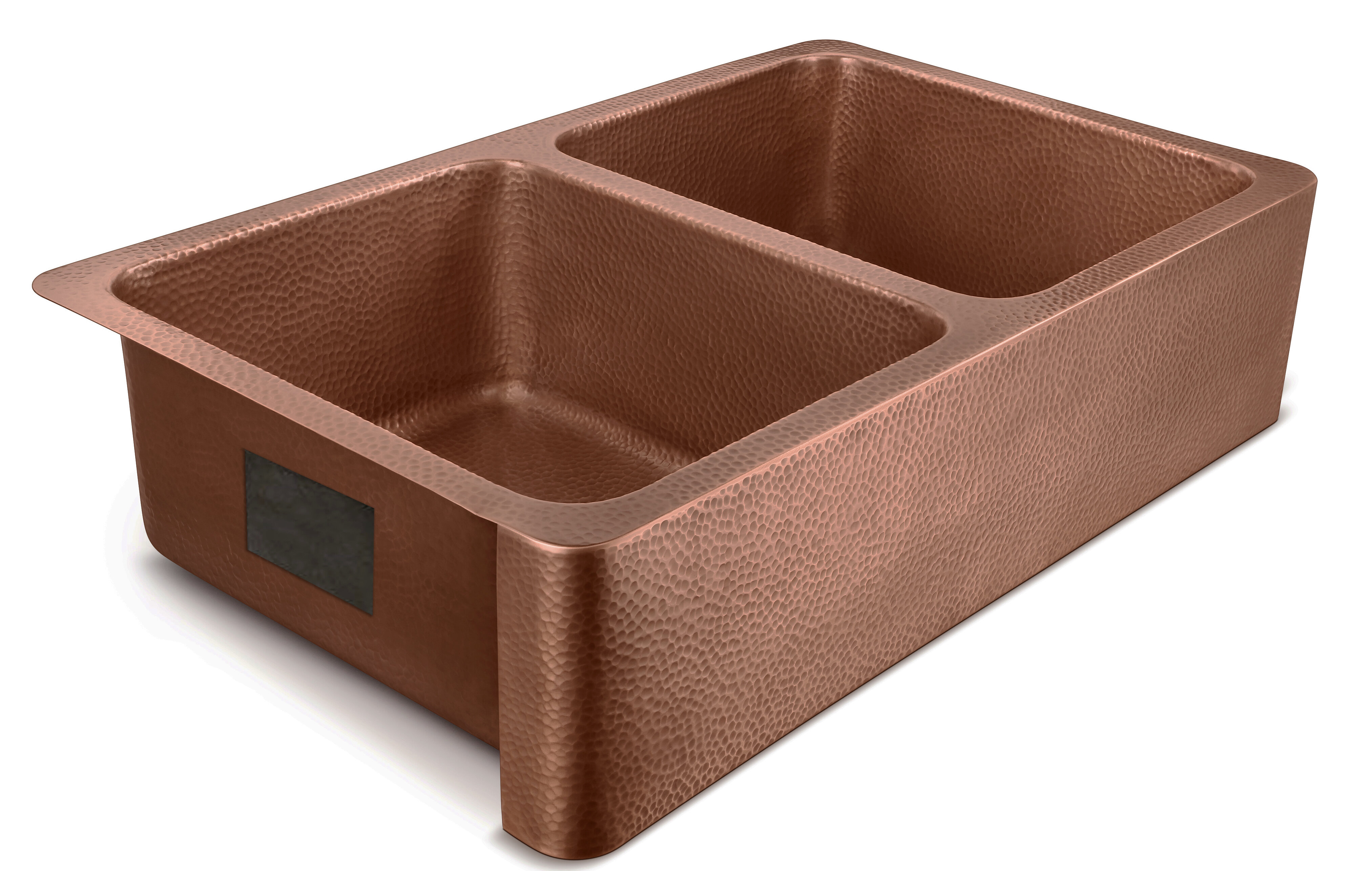 Picture of: Sinkology Moran 36 L X 22 W Double Basin Farmhouse Kitchen Sink Reviews Wayfair