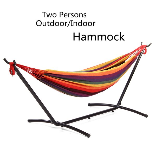 Mayflower 2 Person Portable Double Classic Hammock with Stand by Bayou Breeze
