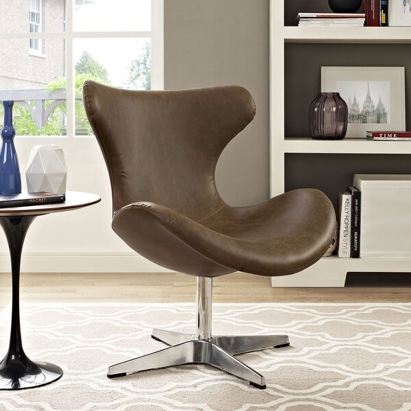 Helm Swivel Wingback Chair by Modway