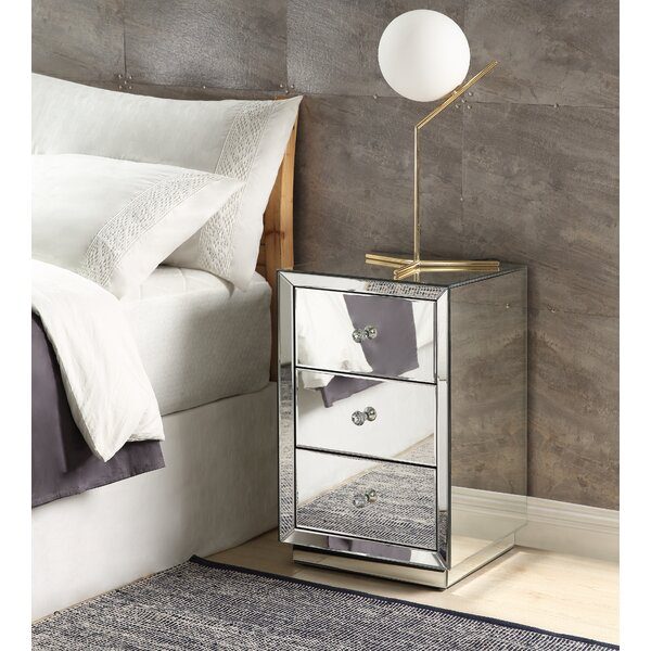 DeSoto 3 Drawer Nightstand by House of Hampton House of Hampton