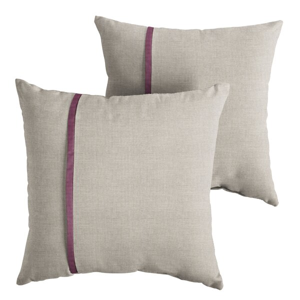 Couture Indoor/Outdoor Throw Pillow (Set of 2) by 17 Stories