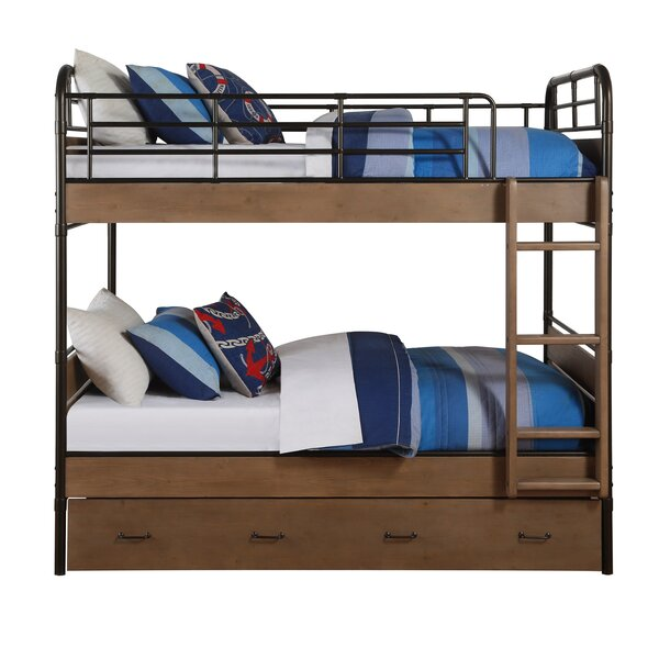 Rech Twin Over Twin Bunk Bed with Trundle by Harriet Bee