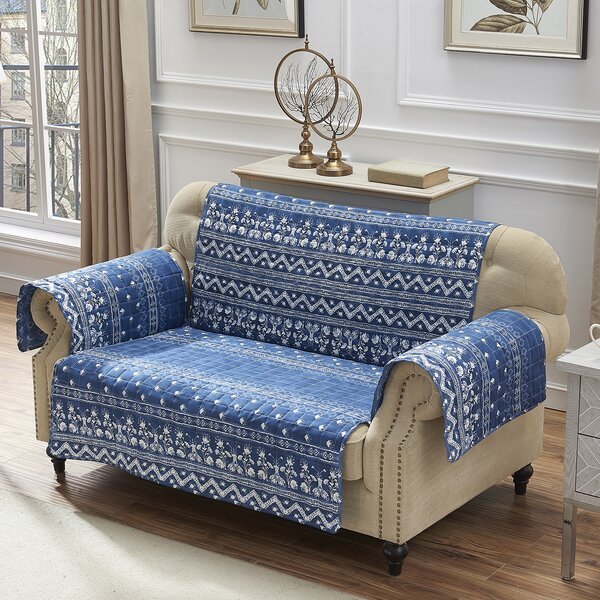 T-Cushion Loveseat Slipcover By Bungalow Rose