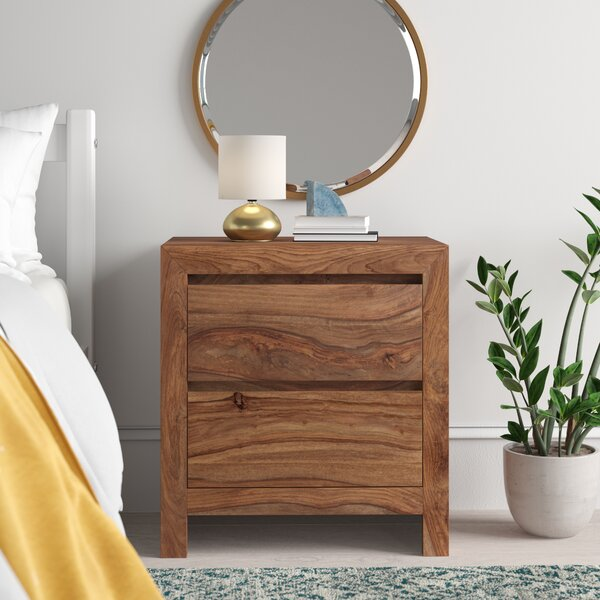 Allegro 2 Drawer Nightstand by Mistana