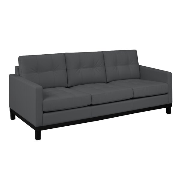 Nice Classy Merrick Road Leather Sofa by Latitude Run by Latitude Run