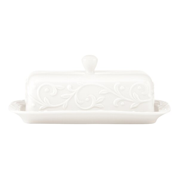Opal Innocence Carved Butter Dish by Lenox