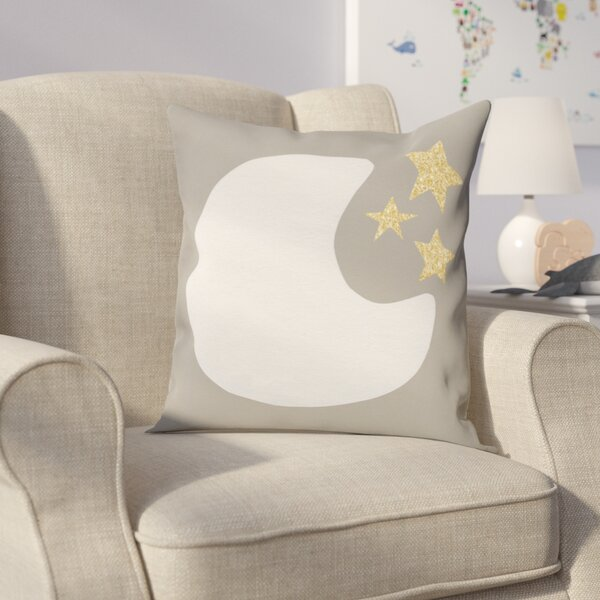 Shelia Moon and Stars Throw Pillow by Viv + Rae