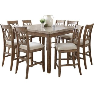 Portneuf Counter Height Dining Table  sc 1 st  Wayfair : square kitchen table with 8 chairs - Cheerinfomania.Com