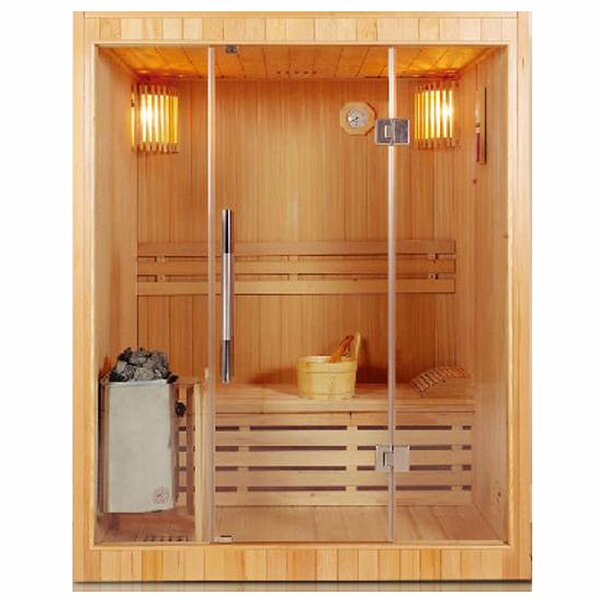 3 Person Traditional Steam Sauna by ALEKO