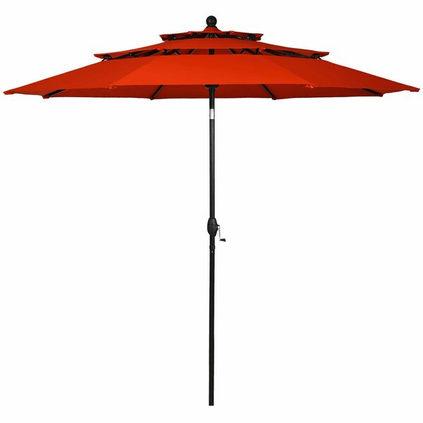 Arissa 3 Tier Patio Sunshade Shelter Beach Umbrella by Ebern Designs Ebern Designs