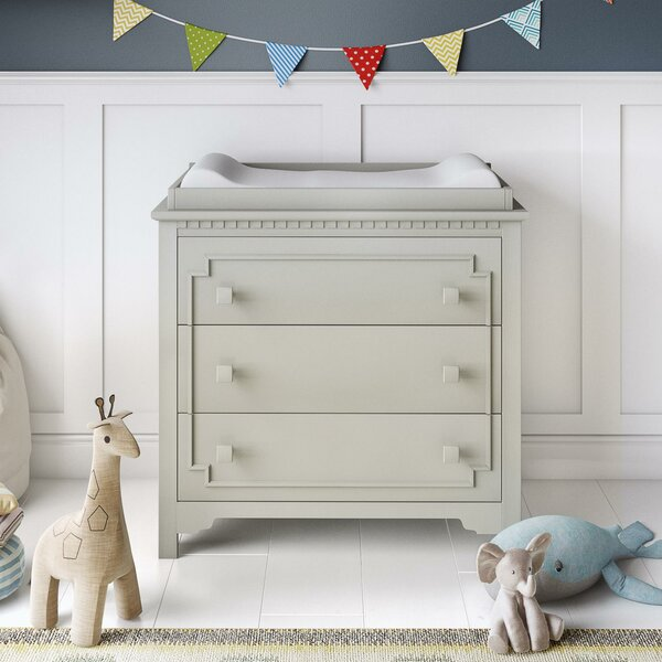 Veendam 3-Drawer Changing Dresser by Mistana