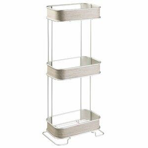 Realwood 3 Tier 6.4″ W x 25.6″ H Bathroom Shelf