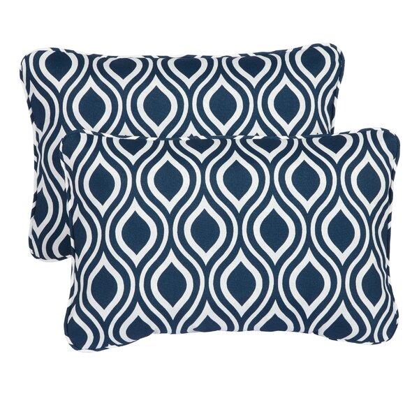 Haislip Corded Indoor/Outdoor Lumbar Pillow (Set of 2) by Brayden Studio