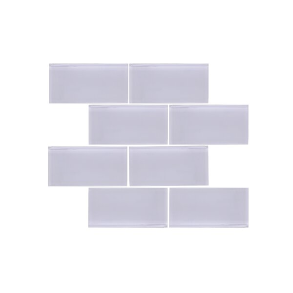 Valencia 3 X 6 Light Grey Glass Subway Tile by Vetromani