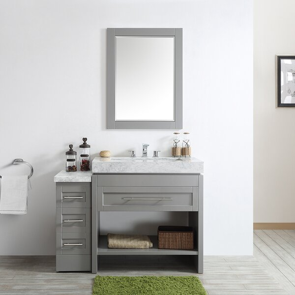 Malt 48 Single Vanity Set with Mirror by Highland Dunes