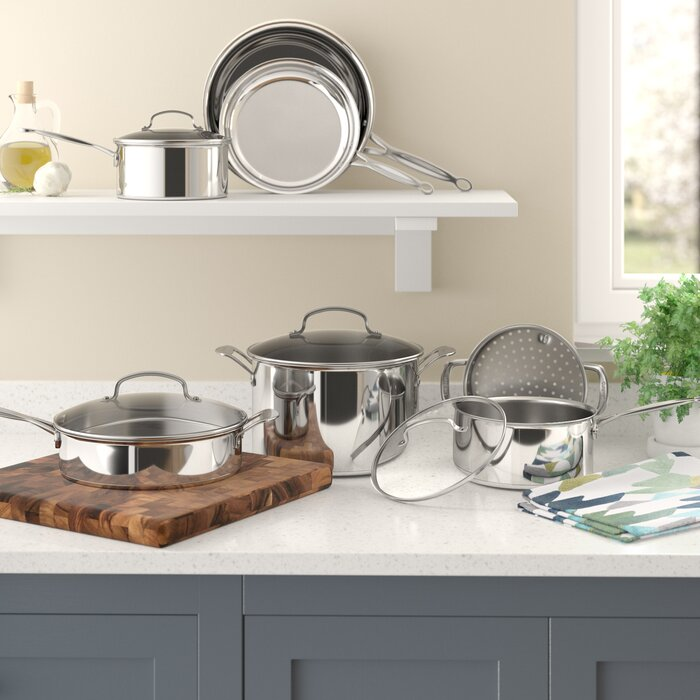 Cuisinart Chef\'s Classic 11 Piece Stainless Steel Cookware Set