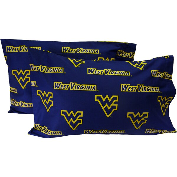 NCAA West Virginia Mountaineers Pillowcase (Set of 2) by College Covers
