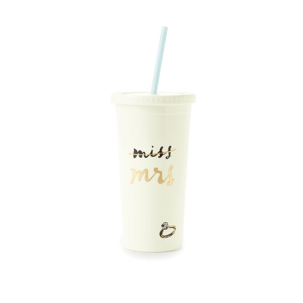 Insulated Miss to Mrs. 20 oz. Acrylic Water Bottles/Travel Tumblers by kate spade new york