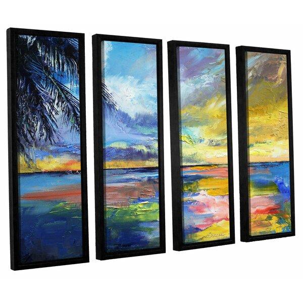 Islamoradana Sunset 4 Piece Framed Painting Print on Canvas Set by Bay Isle Home