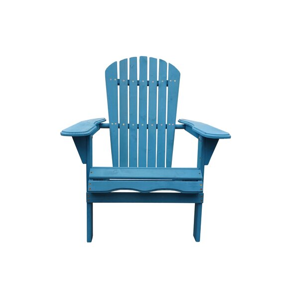 Wincott Solid Wood Folding Adirondack Chair by Highland Dunes Highland Dunes