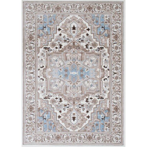 Medina Bohemian Style Ice Blue Area Rug by Bloomsbury Market| @ $199.99