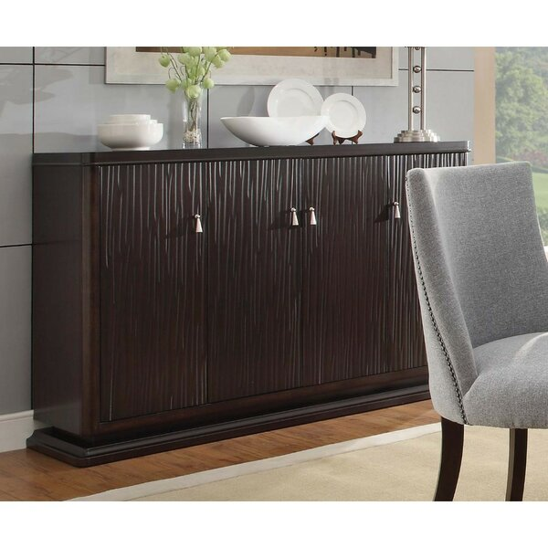 Schwarz Solid Textured Wooden Server by World Menagerie