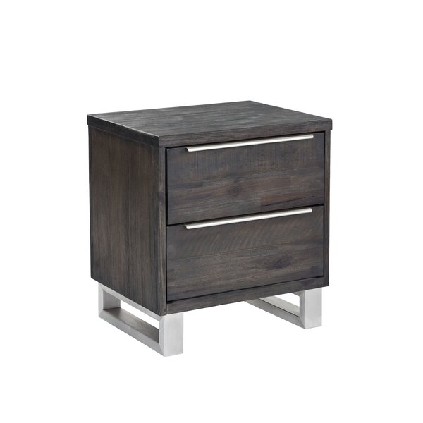 Rhodes 2 Drawer Nightstand by Sunpan Modern