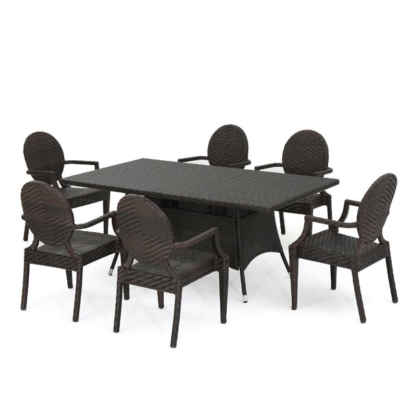 Aurelio Outdoor 7 Piece Dining Set by Ophelia & Co.