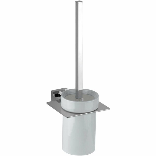 Wall-Mounted Toilet Brush Set by AGM Home StoreWall-Mounted Toilet Brush Set by AGM Home Store
