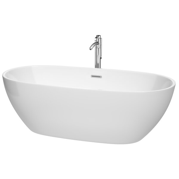 Juno 71 x 32 Freestanding Soaking Bathtub by Wyndham Collection