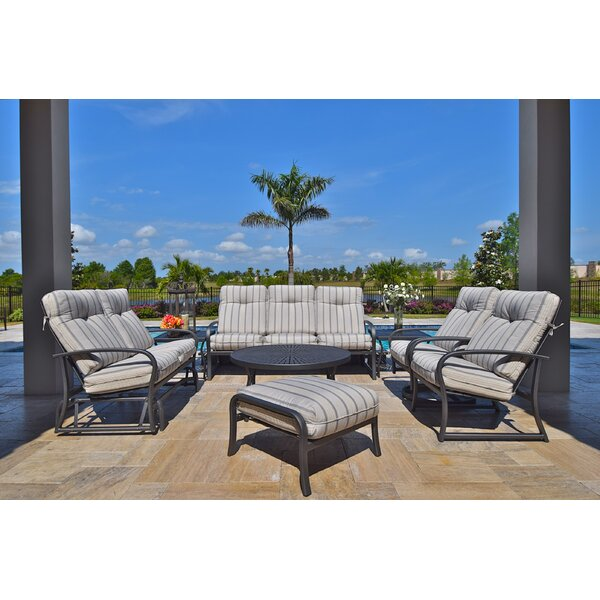 Terrabay 8 Piece Sunbrella Sofa Set with Cushions by Outdoor Masterpiece