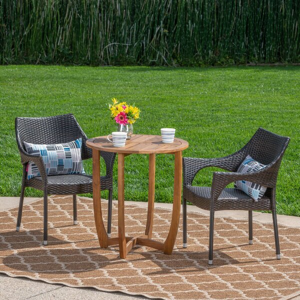 Summersville Outdoor 3 Piece Bistro Set by Ebern Designs