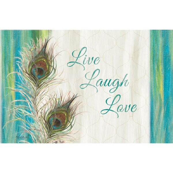 Peacock Live, Laugh, Love Placemat (Set of 4) by CounterArt