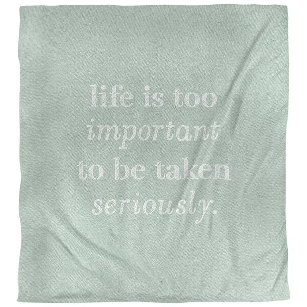 Quotes Handwritten Life and Levity Single Reversible Duvet Cover