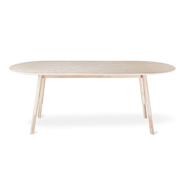 Bracket Dining Table Oval Base Walnut by Gus* Modern Gus* Modern