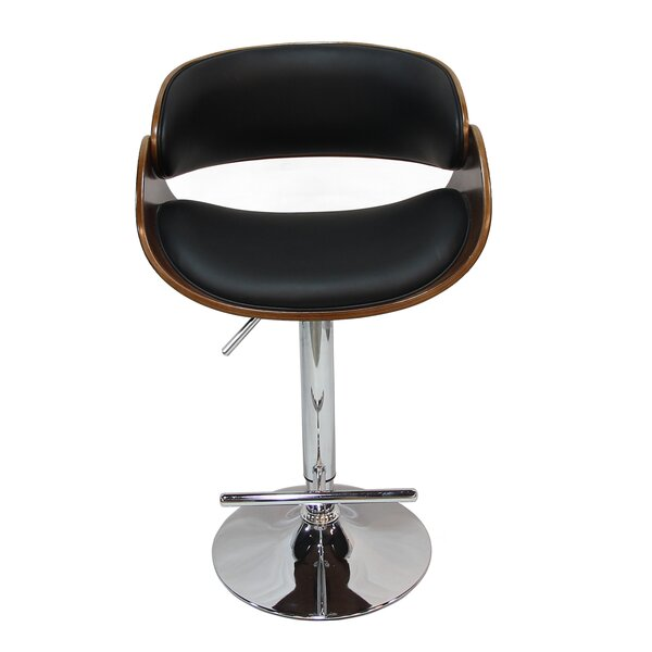Margarites Adjustable Height Bar Stool by Orren Ellis