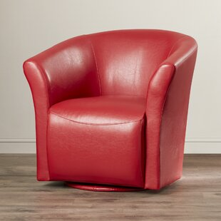 Red Leather Swivel Chair | Wayfair
