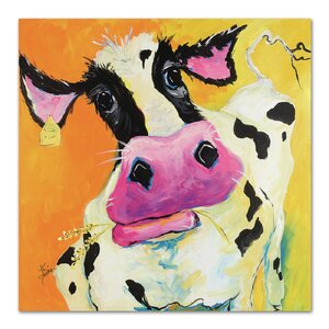 'Cow' by Terri Einer Painting Print by Americanflat