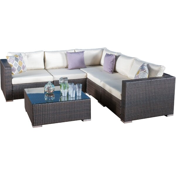 Cabral 6 Piece Rattan Sectional Set With Cushions By Sol 72 Outdoor