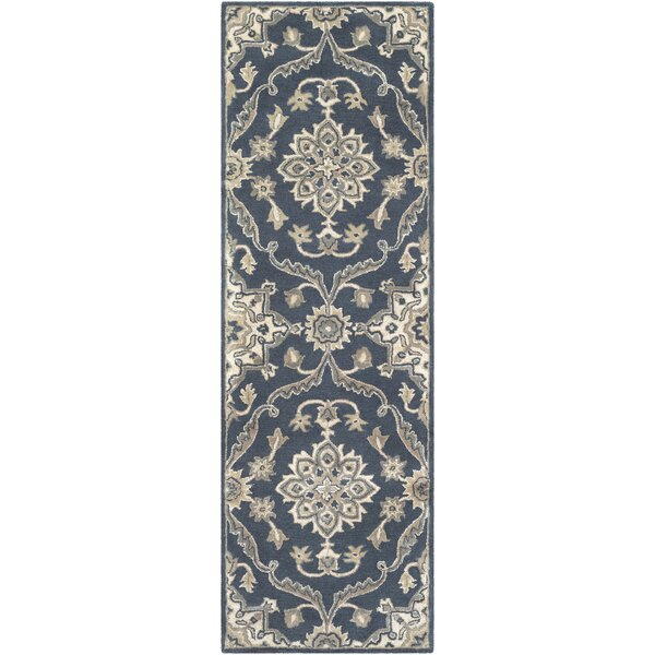 Sobel Handmade Tufted Wool Navy/Khaki Rug