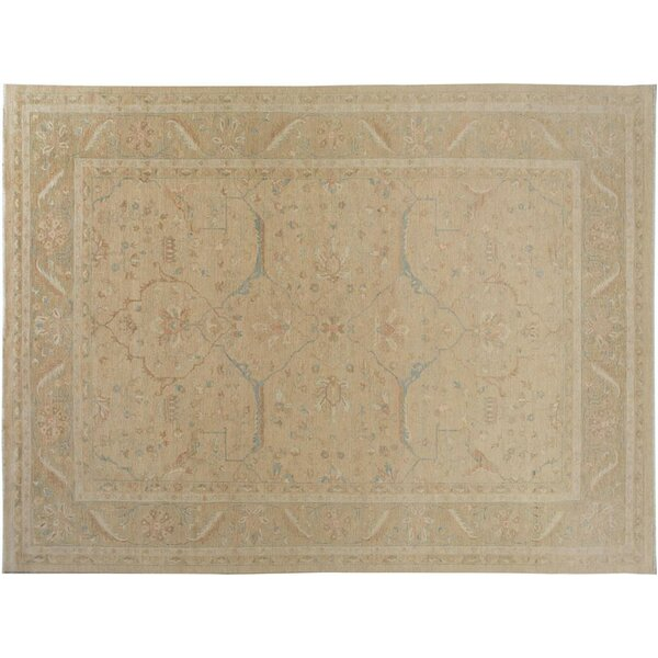 Badham Hand-Knotted Wool Tan/Light Gold Area Rug by Bloomsbury Market