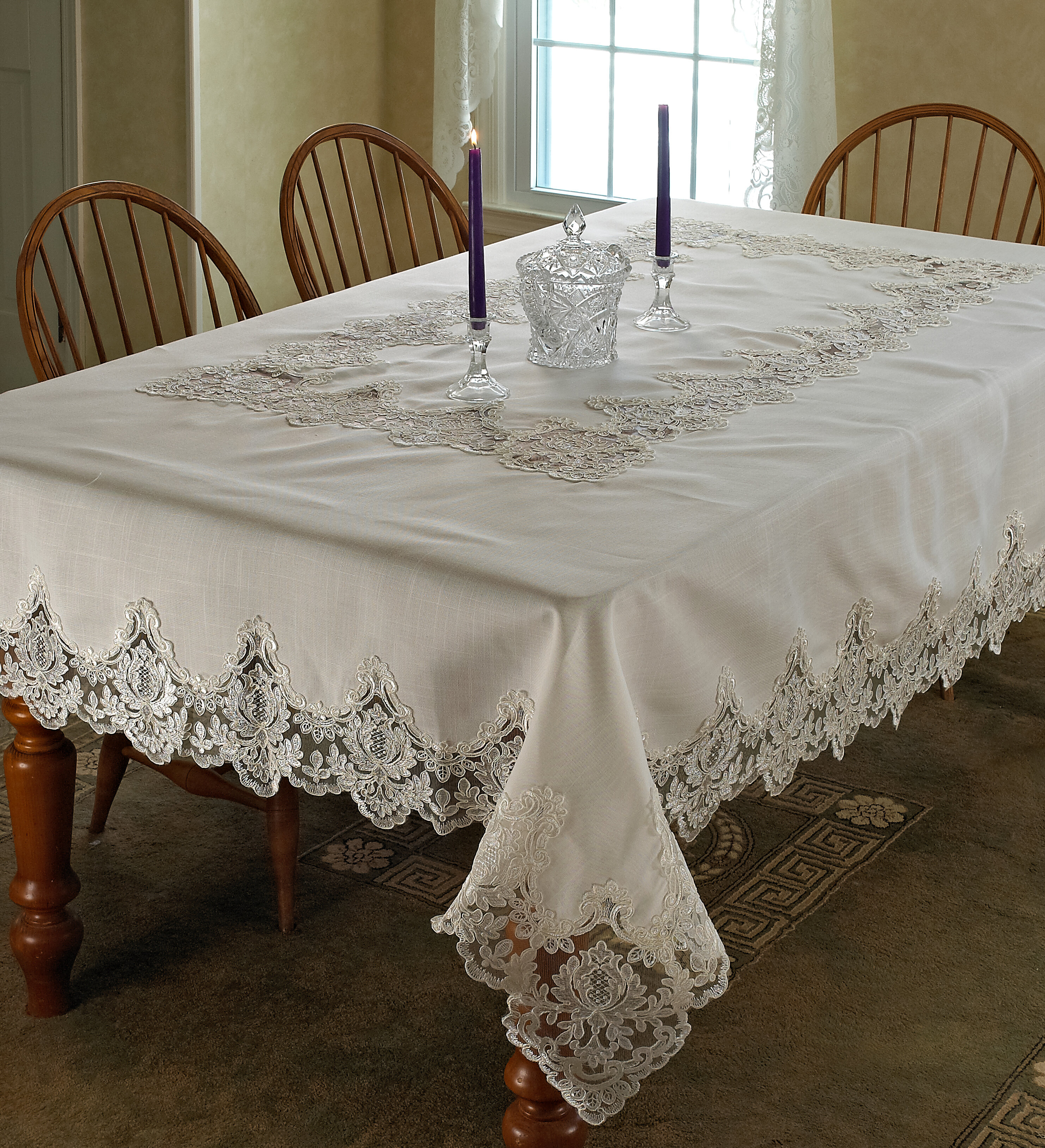 Delightful Lark Manor Gabin Vintage Lace Tablecloth U0026 Reviews | Wayfair