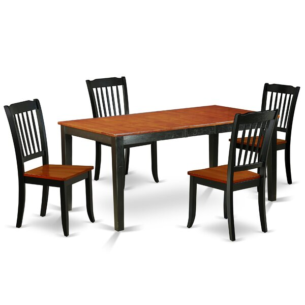 Lafrance 5 Piece Extendable Solid Wood Dining Set by August Grove