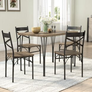 Sagers 5 Piece Industrial Style Dining Set
