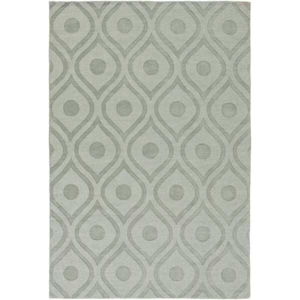 Castro Hand Woven Wool Blue-Gray Area Rug by Wrought Studio