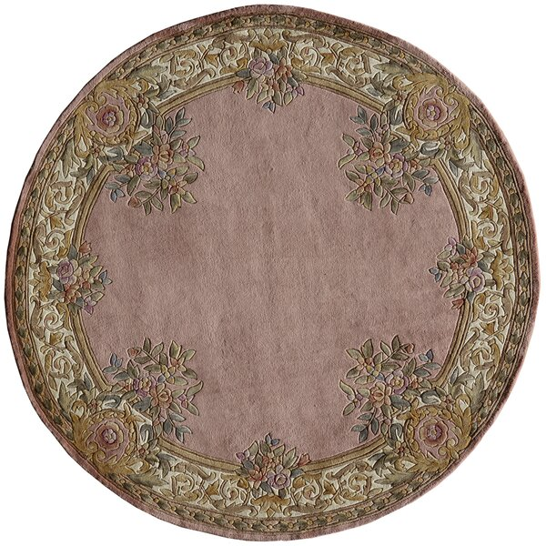 Laurel Hand-Tufted Wool Rose Area Rug by Astoria Grand