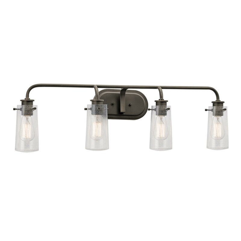 Bathroom Vanity Lights Austin Tx trent austin design fruita 4-light vanity light & reviews | wayfair